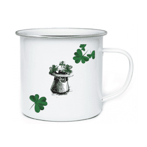AD. Enamel Cups Wholesale Four Leaf Clover Luck