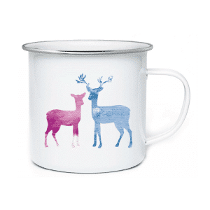 AH. Custom Printed Enamel Mugs Elk