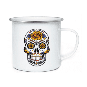 AI. Big Enamel Mug Cool Skeleton