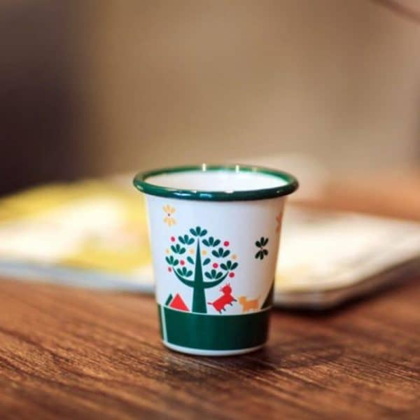 CB. Enamel Mug Mini Cute Juice Milk Tumbler Cup