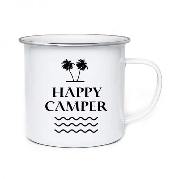AA. Enamel Mug Camping In Mountain