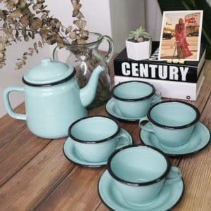 enamelware tea set