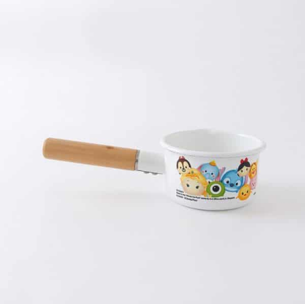 E. Enamel Saucepan White Cartoons Milk Pot