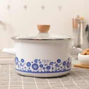 enamel cooking pots