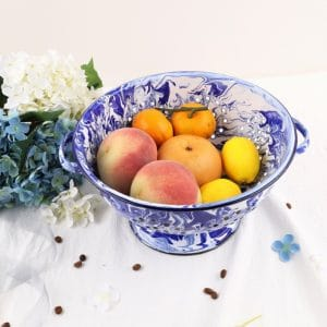BE. Enamel Plate Drain Tray Fruit Wash Dish