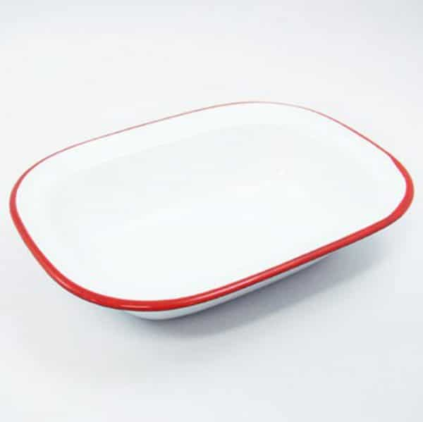 CC. Enamel Plate Cooking Baking Cheese Pie Tray