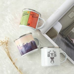 BG. Enamel Custom Mugs Summer/Mountain/Happy New Year