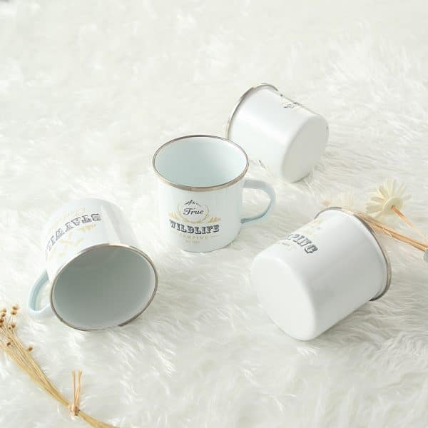 DE. Enamel Mug WILDLIFE / CAMP / ADVENTURE / STAYWILO