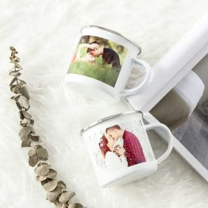 BI. Sublimation Enamel Mug Blanks White