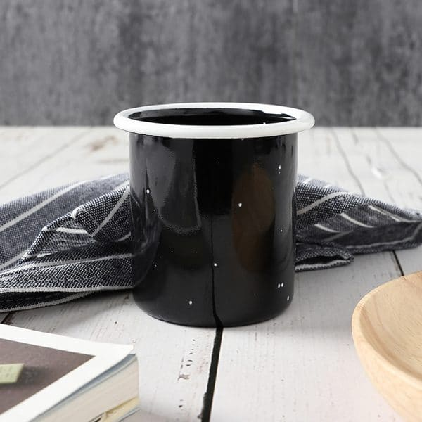 BE. Enamel Mug Black Speckle Tumbler