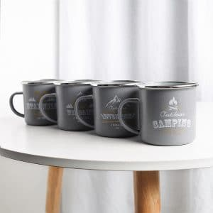DB. Enamel Camping Mug Grey Matte Outdoor