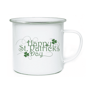 AE. 500ml Enamel Mug Happy St.Patrick's Day