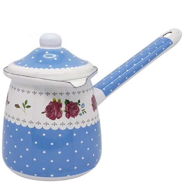 G. Enamel Coffee Hand Brewed Pot Blue Flowers