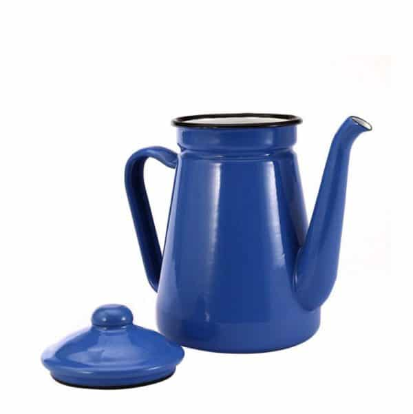 BH. Enamel Kettle Black Tea Pot High Thin