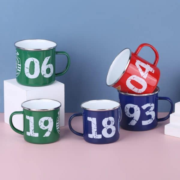Enamel Mug Colorful Numaber